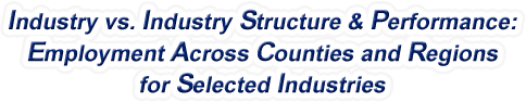 Illinois - Industry vs. Industry Structure & Performance: Employment Across Counties and Regions for Selected Industries